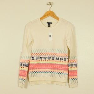 Gap Pullover Sweater Ivory Long Sleeve Girl 12 New